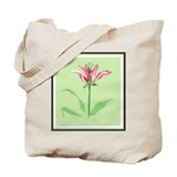 Botanical Illustration Green Tote Bag