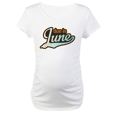 Sporty Due in June Maternity T-Shirt