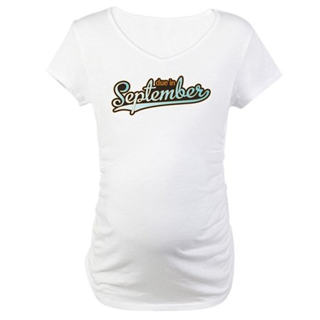 Sporty Due in September Maternity T-Shirt