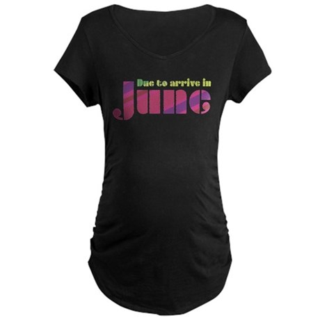 Due to Arrive in June Maternity Dark T-Shirt