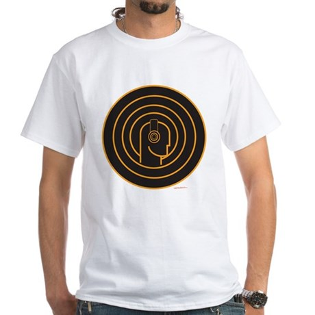 Head Spin DJ White T-Shirt