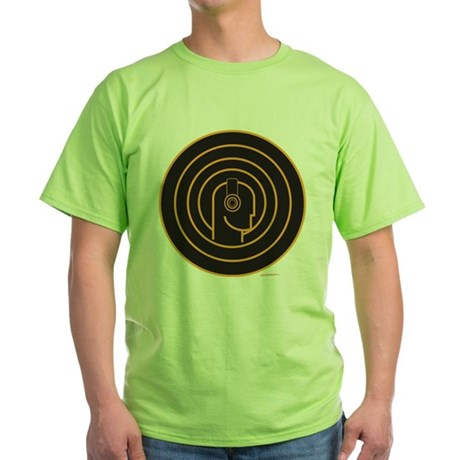 Head Spin DJ Green T-Shirt