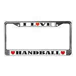 I Love Handball License Plate Frame
