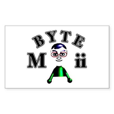 Byte Mii Sticker (Rectangle)