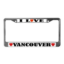 I Love Vancouver License Plate Frame