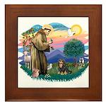 St Francis #2 / Cavalier (BT) Framed Tile