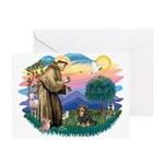 St Francis #2 / Cavalier (BT) Greeting Card