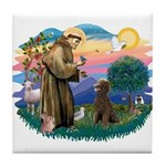 St Francis #2 / Poodle (ST-Ch) Tile Coaster