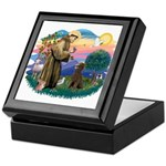 St Francis #2 / Poodle (ST-Ch) Keepsake Box