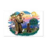 St Francis #2 / Poodle (ST-Ch) Mini Poster Print