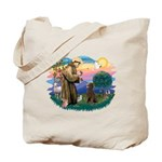 St Francis #2 / Poodle (ST-Ch) Tote Bag