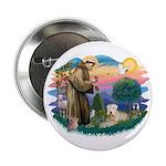 "St Francis #2 / Wheaten 2.25"" Button"