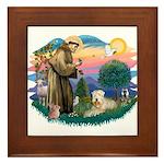 St Francis #2 / Wheaten Framed Tile