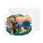 St Francis #2 / Wheaten Greeting Cards (Pk of 20)
