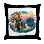 St Francis #2 / Wheaten Throw Pillow