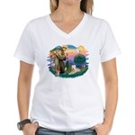 St Francis #2 / Wheaten Women's V-Neck T-Shirt