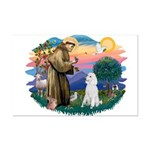St Francis #2 / Poodle (STD W) Mini Poster Print