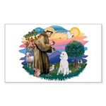 St Francis #2 / Poodle (STD W) Sticker (Rectangle)