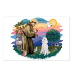 St Francis #2 / Poodle (STD W) Postcards (Package
