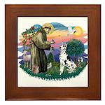 St Francis #2 / Great Dane (H) Framed Tile