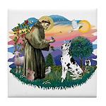 St Francis #2 / Great Dane (H) Tile Coaster