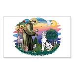 St Francis #2 / Great Dane (H) Sticker (Rectangle)