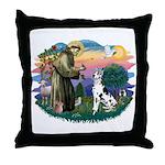 St Francis #2 / Great Dane (H) Throw Pillow