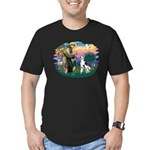St Francis #2 / Great Dane (H) Men's Fitted T-Shir