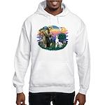 St Francis #2 / Great Dane (H) Hooded Sweatshirt