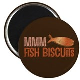 "Mmm Fish Biscuits 2.25"" Magnet (10 pack)"