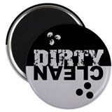 Dirty/Clean Dishwasher black/silver Magnet