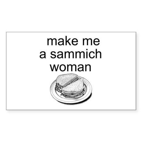 Sammich Rectangle Sticker