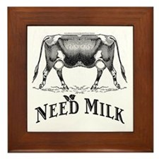 Need Milk Framed Tile