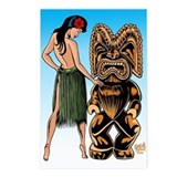 Wahine and Tiki Postcards (Package of 8)