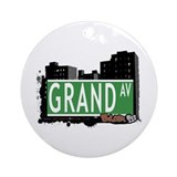 Grand Av, Bronx, NYC Ornament (Round)
