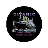 "Titanic Neon (black) 3.5"" Button"
