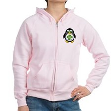 Green Irish Penguin Zip Hoody