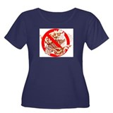 Red Lionfish Women's Plus Size Scoop Neck Dark T-S
