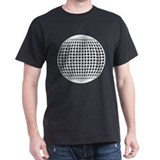 White on Black Globe T-Shirt