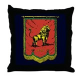 Reggae Jah Lion Banner Throw Pillow