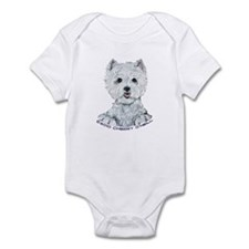 Lovable Westie Infant Bodysuit