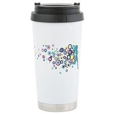Circles Ceramic Travel Mug