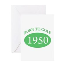 1950 Born To Golf Greeting Card
