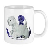 Blue Ribbon Westie Mug