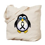 Penguin Black Ribbon Awareness Tote Bag