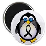 Penguin Black Ribbon Awareness Magnet