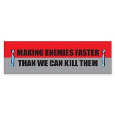 Making Enemies Bumper Bumper Sticker