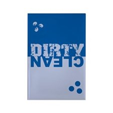 Dirty/Clean Dishwasher SQ blue Rectangle Magnet