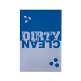 Dirty/Clean Dishwasher SQ blue Rectangle Magnet (1
