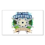 Lost Island Adventures Sticker (Rectangle)